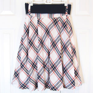 Miss Sixty Skirts - Miss Sixty | Plaid Belted Retro/Pin-Up Full Skirt